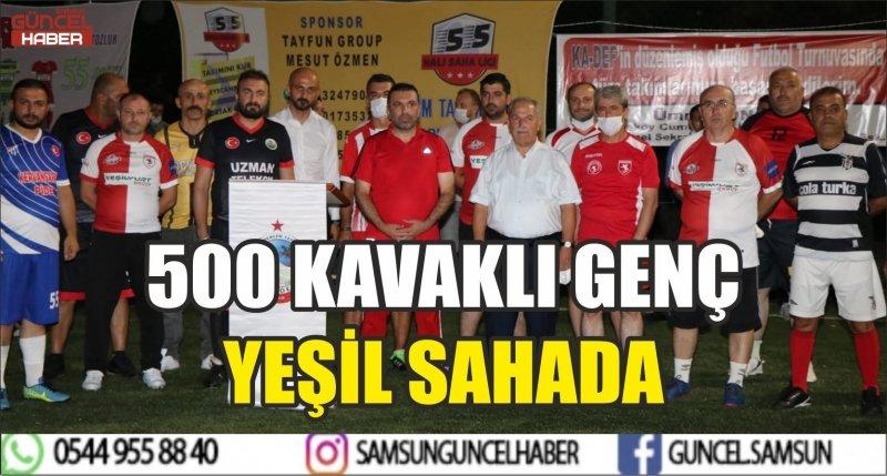 500 KAVAKLI GENÇ YEŞİL SAHADA