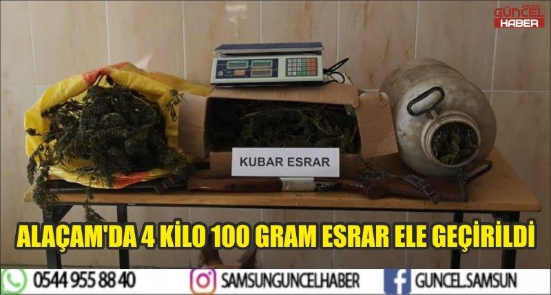 ALAÇAM'DA 4 KİLO 100 GRAM ESRAR ELE GEÇİRİLDİ
