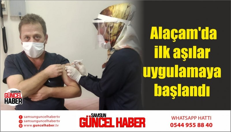Alaçam'da ilk aşılar uygulamaya başlandı