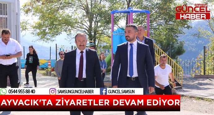 AYVACIK'TA ZİYARETLER DEVAM EDİYOR