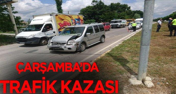 Çarşamba'da trafik kazası: 1 yaralı