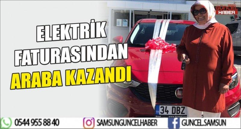 ELEKTRİK FATURASINDAN ARABA KAZANDI
