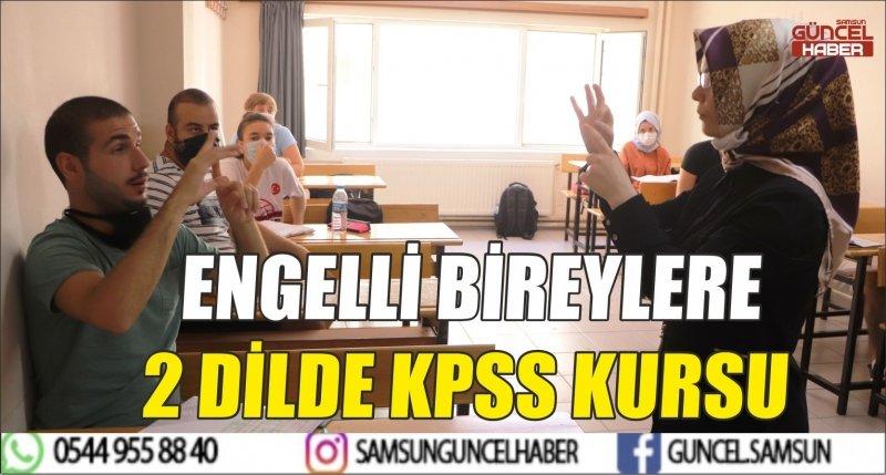 ENGELLİ BİREYLERE 2 DİLDE KPSS KURSU