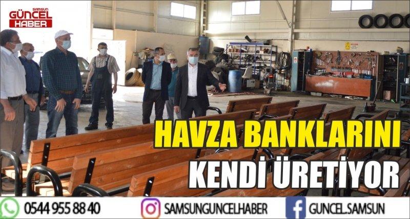 HAVZA BANKLARINI KENDİ ÜRETİYOR