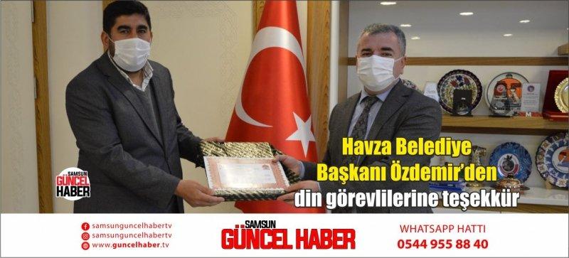 Havza Belediye Başkanı Özdemir'dendingörevlilerineteşekkür