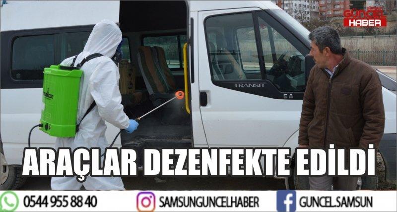 HAVZA'DA ARAÇLAR DEZENFEKTE EDİLDİ