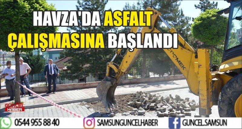 HAVZA'DA ASFALT ÇALIŞMASINA BAŞLANDI
