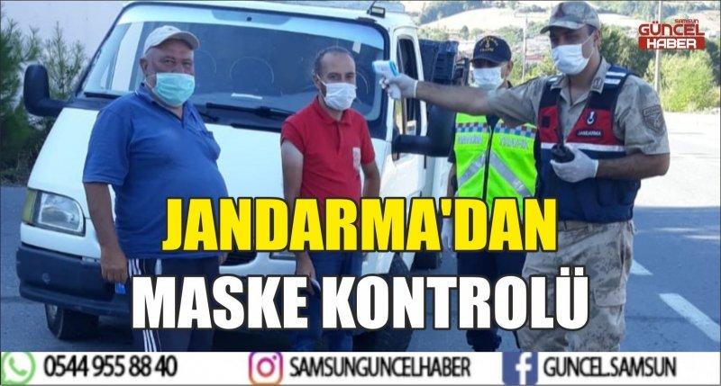 JANDARMA'DAN MASKE KONTROLÜ