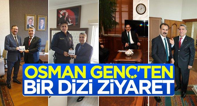 Osman Genç'ten bir dizi ziyaret