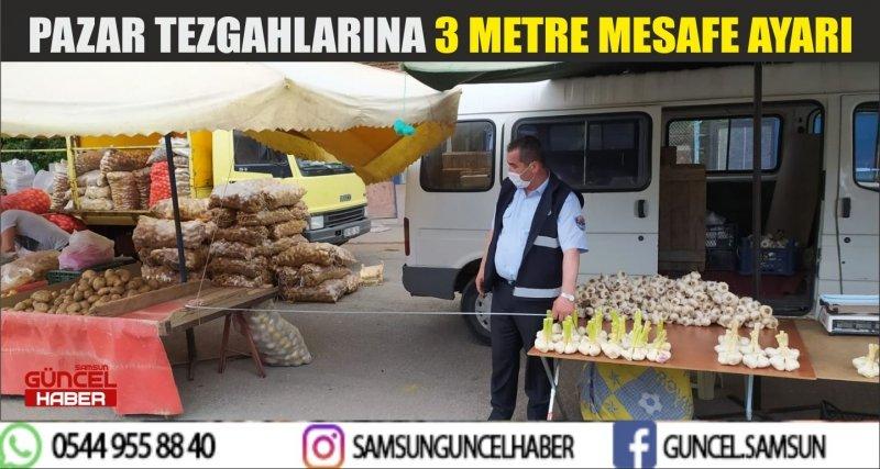 PAZAR TEZGAHLARINA 3 METRE MESAFE AYARI