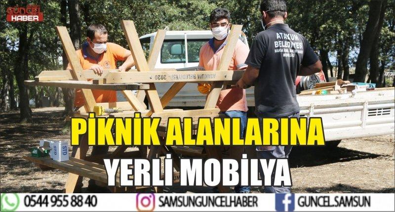 PİKNİK ALANLARINA YERLİ MOBİLYA