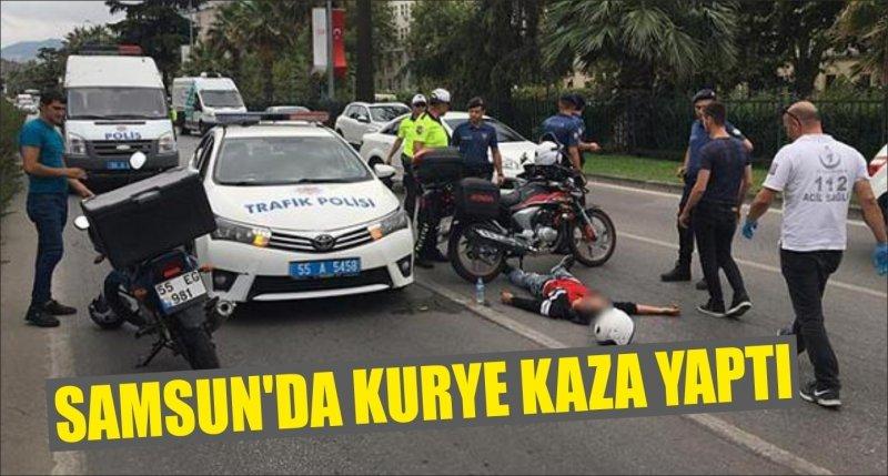 SAMSUN'DA KURYE KAZA YAPTI