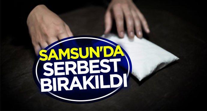 Samsun'da serbest bırakıldı