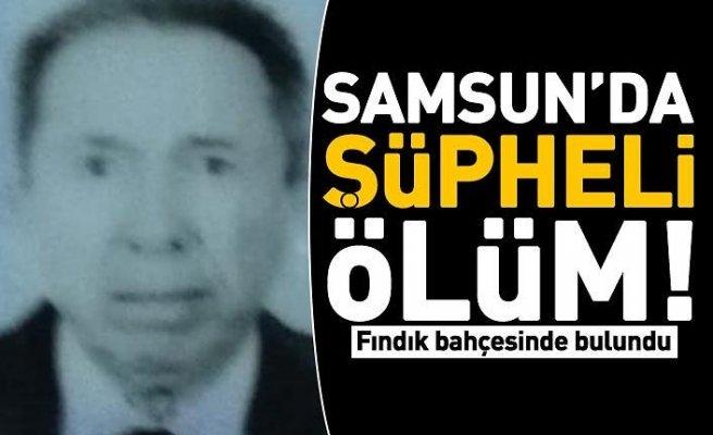 Samsun'da şüpheli ölüm! Fındık bahçesinde bulundu