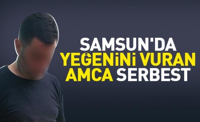 Samsun'da yeğenini vuran amca serbest