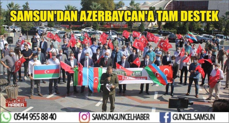 SAMSUN'DAM AZERBAYCAN'A TAM DESTEK