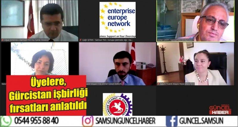 Üyelere, Gürcistan işbirliği fırsatları anlatıldı