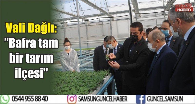 """Vali Dağlı: """"Bafra tam bir tarım ilçesi"""