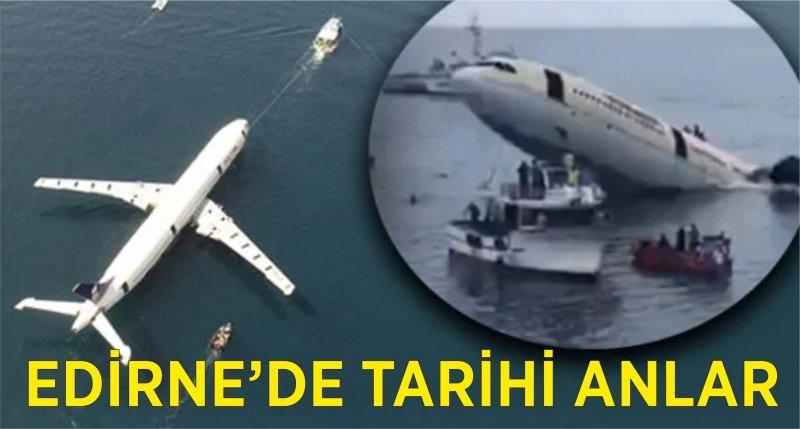 Yolcu uçağı Edirne'de batırıldı!