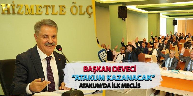 ATAKUM BELEDİYESİ'NDE İLK MECLİS TOPLANTISI