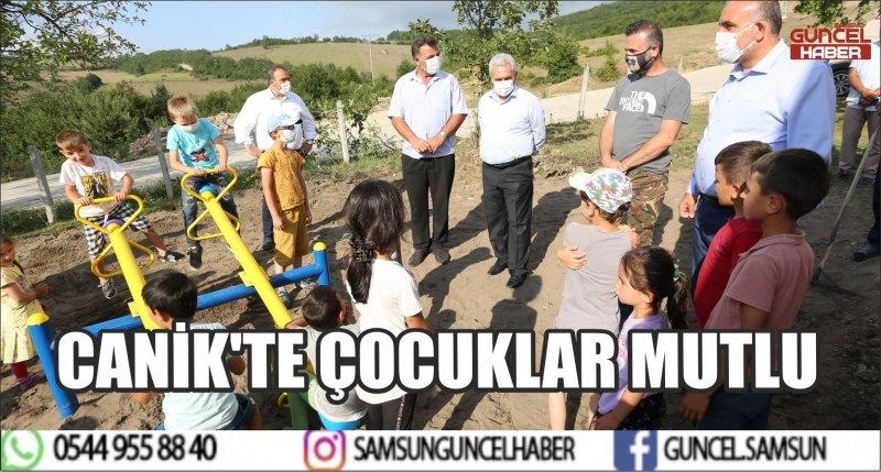 CANİK'TE ÇOCUKLAR MUTLU