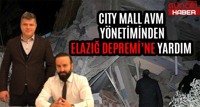CITY MALL AVM YÖNETİMİNDEN ELAZIĞ DEPREMİ'NE YARDIM