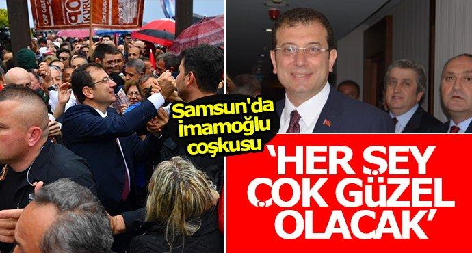 Samsun'da Ekrem İmamoğlu coşkusu!