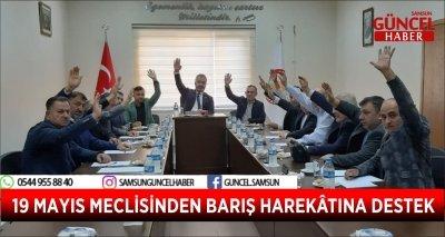 19 MAYIS MECLİSİNDEN BARIŞ HAREKÂTINA DESTEK