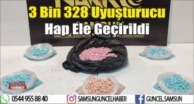 3 Bin 328 Uyuşturucu Hap Ele Geçirildi