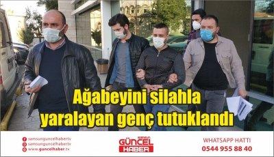 Ağabeyini silahla yaralayan genç tutuklandı