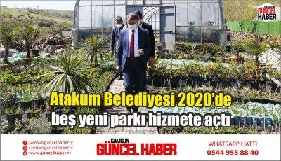 Atakum Belediyesi 2020'de beş yeni parkı hizmete açtı