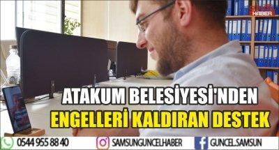 ATAKUM BELESİYESİ'NDEN ENGELLERİ KALDIRAN DESTEK