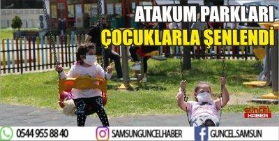 ATAKUM PARKLARI ÇOCUKLARLA ŞENLENDİ