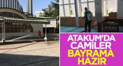 Atakum'da camiler bayrama hazır