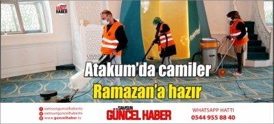 Atakum'da camiler Ramazan'a hazır