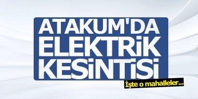 Atakum'da elektrik kesintisi yapılacak