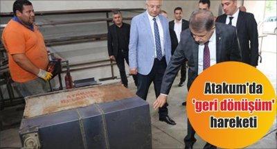 Atakum'da 'geri dönüşüm' hareketi