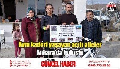 Aynı kaderi yaşayan acılı aileler Ankara'da buluştu