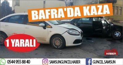 BAFRA'DA KAZA 1 YARALI