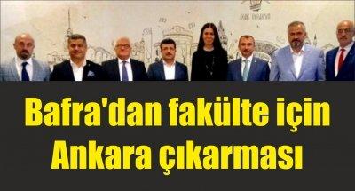 Bafra'dan fakülte için Ankara çıkarması
