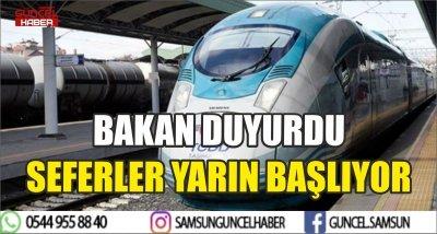 BAKAN DUYURDU SEFERLER YARIN BAŞLIYOR