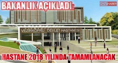 Bakanlık Açıkladı: Hastane 2018 Yılında Tamamlanacak