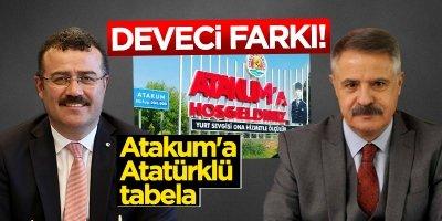 Başkan Deveci'den Atakum'a Atatürklü tabela