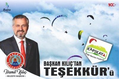 BAŞKAN KILIÇ'TAN KAPIKAYFEST TEŞEKKÜRÜ