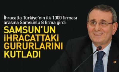 Başkan Murizoğlu, Samsun'un ihracattaki gururlarını kutladı