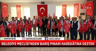 BELEDİYE MECLİSİ'NDEN BARIŞ PINARI HAREKÂTINA DESTEK