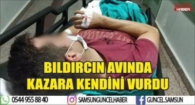 BILDIRCIN AVINDA KAZARA KENDİNİ VURDU
