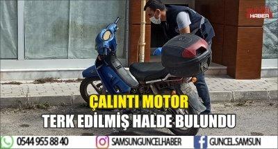 ÇALINTI MOTOR TERK EDİLMİŞ HALDE BULUNDU
