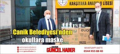 Canik Belediyesi'nden okullara maske
