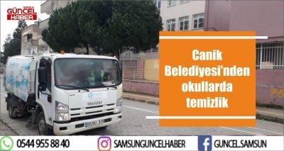Canik Belediyesi'nden okullarda temizlik